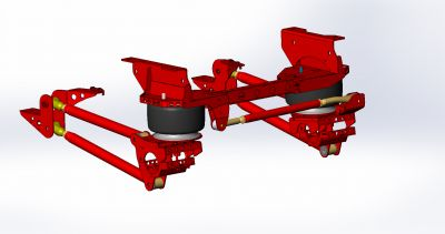 """2017-2019 0-3"""" Rear Only Short Arm Suspension- Long Bed Dual Rear Wheel- F-350"""